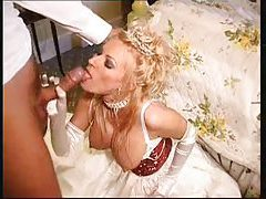 Super hot busty bride nailed in her cunt tubes