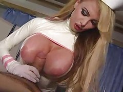 Nurse Taylor Wane in latex sucks dick tubes