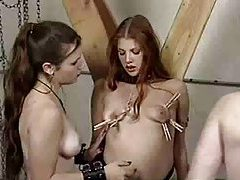 Lesbian femdom abuse in the dungeon tubes