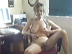 Cute mature on webcam gropes her tits tubes