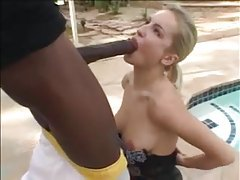 Girl in amazing skirt sucks black cock tubes