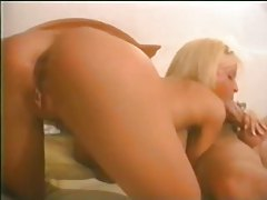 Hot blonde sucks a load out of him tubes
