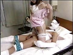 Japanese nurse gifts him with a blowjob tubes