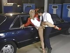 Sexy slut gets it hard in the parking lot tubes