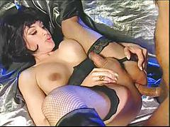 Shemale in boots and stockings fucked tubes