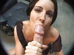 Sweetheart sucks a big cock to a cumshot tubes