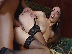 Anal ravaging for elegant chick in stockings tubes