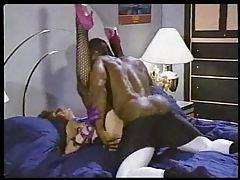Hot white porn slut taken by black dude in classic scene tubes