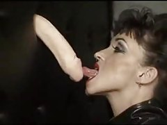 Huge tit chick in latex gives gloryhole blowjob tubes