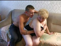 Mature fingered and fucked from behind in her fat pussy tubes