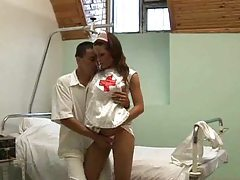 Nurse gives head and gets pounded tubes