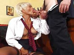 Dude bangs his secretary from behind tubes