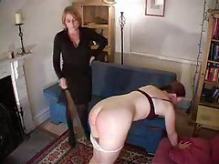Making her ass red with a spanking tubes