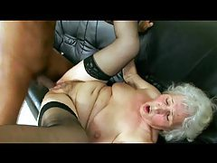 Granny taking black cock from young guy tubes