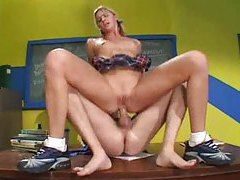Pigtailed schoolgirl Ashley Long fucked hard tubes