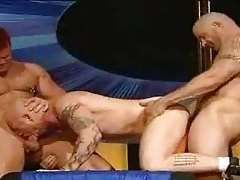Man with a pussy double teamed tubes