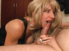 Pierced blonde with perky tits loves his cock tubes