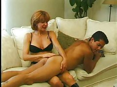 Babe uses a strapon on her man tubes