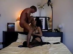 Humping the hot girl in the black stockings tubes