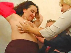 His aunt and mom seduce him for threesome tubes