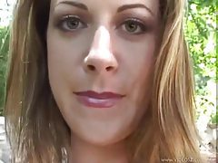 Brunette blows POV and gets facial tubes