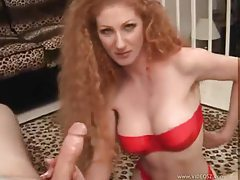 Redhead with a tight body lets him do her tits tubes