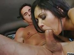 Peter North fucks a slut in a car tubes