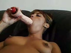 She loves that toy in her tasty pussy tubes