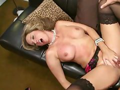He taps milf pussy and fingers her ass tubes