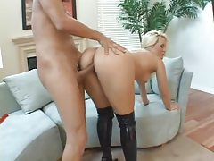 Alexis Texas in slutty latex boots boned hard tubes