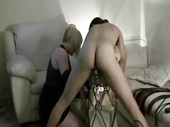 Mistress has a slave boy that loves pain tubes