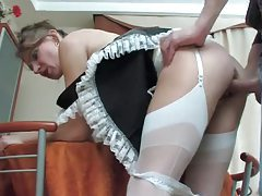 French maid whore fucked in her pussy tubes