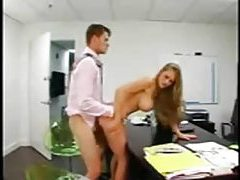 Secretary is perfect and bends over for him tubes