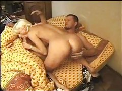 Pierced milf wakes him up with hot oral tubes
