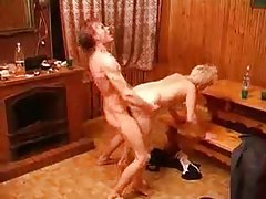 Young guy gives hot granny a hard plowing tubes