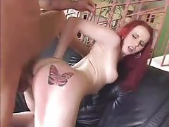 Skinny redhead with milky white skin fucked tubes
