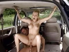 Anal sex in the back of a car tubes