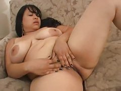 Fat Latina striptease includes lace panties tubes