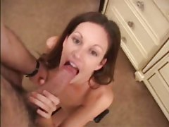 The big cock produces big cumshot after BJ tubes