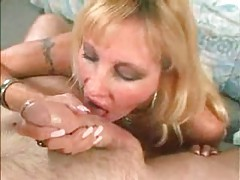 Blonde milf titjob in POV and a bit of blowing tubes