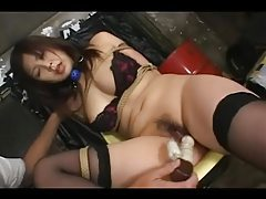 Asian Tied And Toyed In Stockings tubes