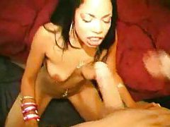 Slutty young Latina face fucked for cumshot tubes