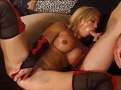 Hottie in tasty stockings fucked hard tubes