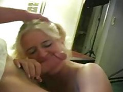 Tasty little pigtailed girl sucks on a hard dick tubes