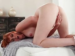 Marie McCray gently masturbates her pussy tubes