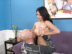 Curvy natural tits girl lets him undress her tubes