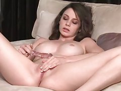 Gorgeous shaved vagina fucked by toy tubes