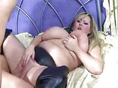 Fat cocksucker in boots becomes his fuck slut tubes