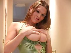Flawless slutty dress on a chick with huge tits tubes