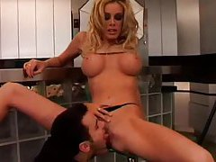 Getting frisky with Nicole Sheridan in kitchen tubes